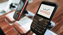Globalive's WIND Mobile phones are displayed at a retail store in Toronto on Dec. 16, 2009. (MARK BLINCH/REUTERS)