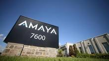 Canadian online-gambling company Amaya Inc. and British bookmaker William Hill PLC said they were in talks to combine in a merger of equals, confirming a Reuters report about the discussions earlier on Friday. (Christinne Muschi/Reuters)