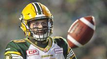 Quarterback Mike Reilly leads the Edmonton Eskimos into the West Division final Sunday against the arch-rival Calgary Stampeders. (Mark Taylor/THE CANADIAN PRESS)