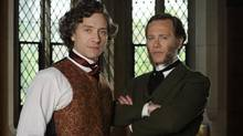 Shawn Doyle as John A. Macdonald and Peter Outerbridge as George Brown in the CBC's John A: Birth of a Country, which goes into Sunday's Canadian Screen Awards having already won four awards.