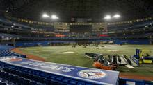 A new standing-room area replaces the old Windows restaurant in centre field. It's one of several changes meant to make the Rogers Centre more hospitable. (Kevin Van Paassen/The Globe and Mail)