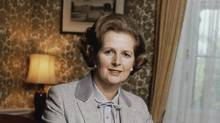 Former British prime minister Margaret Thatcher in 1980. She died at age 87 on Monday, April 8, 2013. (Gerald Penny/AP)