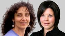 Photojournalist Paula Lerner, left, and Globe reporter Jessica Leeder. (Deborah Baic/Deborah Baic 2009)