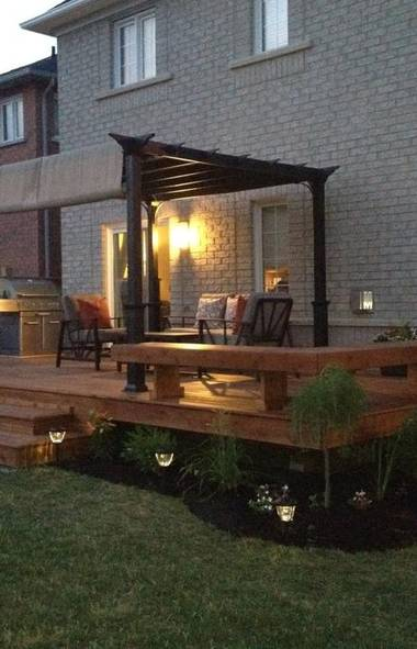 Dale of Barrie, Ont., renovated his own backyard for a total cost of $3,500. (Submitted)