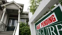 A sale pending sign is posted in front of a home for sale in San Francisco. (Justin Sullivan/Justin Sullivan/Getty Images)