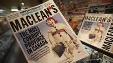 The Oct. 4, 2020, edition of Maclean's magazine. (Jonathan Hayward/Jonathan Hayward/The Canadian Press)