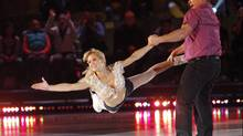 Christine Hough-Sweeney and Tie Domi perform during skate-off episode of CBC television show Battle of the Blades, broadcast on Monday night. (HO/CP)