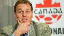 Former Canadian senior men's soccer coach Holger Osieck won't see too many familiar faces when he surveys the Canadian roster to meet his Socceroos on Oct. 15 at London's Craven Cottage. (file photo) (DAVE STOBBE/CP)