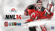 EA Sports NHL 14 game cover featuring Martin Brodeur (EA Sports)