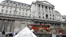 A general view of the Bank of England building in London. (Alastair Grant/Associated Press)
