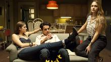 "Allison Williams, Chris Abbott and Jemima Kirke in a scene from an episode of ""Girls"" (Jojo Whilden)"