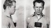 "Scene from the documentary film WHITEY: United States of America v. James J. Bulger Mugshot of James ""Whitey"" Bulger. (Alcatraz Federal Penetentiary)"