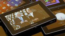 The Blackberry tablet, or Playbook. (Peter Power/Peter Power/The Globe and Mail)
