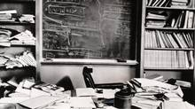 Einstein's office in Princeton in 1955. Curiosity, hard work and questioning textbooks served him pretty well. (Associated Press)