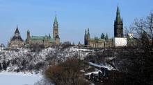 The West Block, right, on Parliament Hill as seen from the Supreme Court of Canada in Ottawa. (Sean Kilpatrick)
