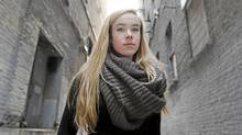 Hannah Taylor, 15, runs the Ladybug Foundation, which raises money to fight homelessness. (JOHN WOODS/John Woods for The Globe and Mail)