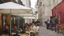 Cafes in the Left Bank of Paris. (Kaitlyn Gisler)