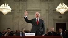 Senator Jeff Sessions is sworn in before the Senate Judiciary Committee during his confirmation hearing to be the U.S. attorney general January 10, 2017, in Washington, D.C. (Chip Somodevilla)