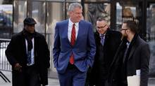 New York Mayor Bill de Blasio said he was 'pleased to see the issue closed' over allegations that those who donated to his 2013 campaign got special treatment. (LUCAS JACKSON/REUTERS)