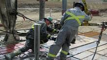 Hydraulic fracturing or 'fracking' in oil and gas exploration. (Gord Pitts/Gord Pitts/The Globe and Mail)