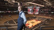 Guy Legault, 65, who worked full-time in theatre for many years as a house manager, now works as an usher at the Air Canada Centre in Toronto. He was never a sports fan but has become a recent convert to Raptors games. Guy Legault, who worked in theatre for many years, now works part time as an usher at the Air Canada Centre, poses before a Raptors game in Toronto, Ont. on Friday, October 14, 2016. (J.P. Moczulski for The Globe and Mail) (J.P. MOCZULSKI for The Globe and Mail)