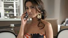 "Emmanuelle Chriqui in a scene from the series ""Entourage"" (HBO)"
