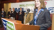 Danielle Smith wins the leadership of the Wildrose Alliance Party in Edmonton on October 17, 2009. (Ian Jackson/The Canadian Press)