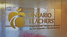 The Ontario Teachers' Pension Plan logo is seen in this file photo.