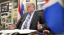 "Critics are calling Toronto Mayor Rob Ford's bargaining position in contract talks ""extreme."" (Peter Power/The Globe and Mail/Peter Power/The Globe and Mail)"