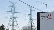 In this March 9, 2015 file photo, the Hydro One logo is shown in front of the Vaughan, Ont. transfer station. A class action lawsuit filed Wednesday, September 9, 2015 alleges widespread billing problems with Hydro One's new management system. (Tim Fraser For The Globe and Mail)