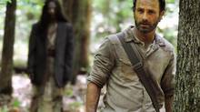 Andrew Lincoln as Rick Grimes in a scene from the season four premiere of The Walking Dead. (GENE PAGE/THE CANADIAN PRESS)