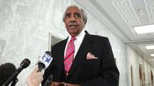 U.S. Representative Charlie Rangel (D-NY) speaks to the members of the media in front of his House office on Capitol Hill in Washington, November 16, 2010. (HYUNGWON KANG/REUTERS/HYUNGWON KANG/REUTERS)