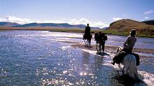 A river crossing in northern Mongolia. (Bruce Kirkby/Bruce Kirkby)