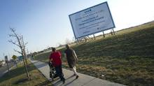 A sign marks the future site of Vaughan's first hospital on March 20, 2012. (Kevin Van Paassen/The Globe and Mail/Kevin Van Paassen/The Globe and Mail)