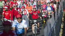 The annual Becel Ride for Heart, in which 14,000 riders participate, scores high in terms of people making the connection between the event and the brand. Becel has sponsored the ride for 28 years and the foundation itself for 21 years. (Kevin Van Paassen for The Globe and Mail)