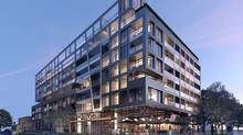 SIX25BV in Bayview Village is a 146-unit condo project, designed by Stephen Teeple and project architect Bernard Jin for Haven Developments.