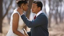 "Jennifer Hudson and Terrence Howard play Winnie and Nelson Mandela in ""Winnie."" (CP)"