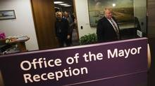 Mayor Rob Ford exits his office in Toronto November 26, 2012. (MARK BLINCH/REUTERS)