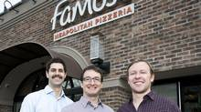Famoso Inc. founders, from left, : Justin Lussier, Christian Bullock and Jason Allard (Phillip Chin)