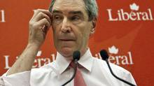 Liberal Leader Michael Ignatieff speaks to his party's winter caucus meeting in Ottawa on Jan. 25, 2011. (Pawel Dwulit/THE CANADIAN PRESS)