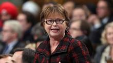 Minister of Public Services Judy Foote answers a question during question period in the House of Commons on Parliament Hill in Ottawa, on Dec. 10, 2015. (FRED CHARTRAND/THE CANADIAN PRESS)