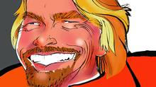 Illustration of Virgin Group founder and philanthropist Richard Branson. (Anthony Jenkins/The Globe and Mail/Anthony Jenkins/The Globe and Mail)
