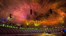 Fireworks are seen at the Closing Ceremony of the 2012 Summer Olympics in London, England, Sunday August 12/2012. (Kevin Van Paassen/The Globe and Mail)