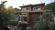The laneway home of Akua Schatz and Brendon Purdy designed by Vancouver's Smallworks Studios/Laneway Housing Inc. A change to Vancouver's zoning bylaws in 2009 led Brendon and Akua to explore the idea of building in their in-laws back yard. (Photo by Brendon Purdy)