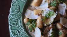 Ricotta gnocchi with mushrooms, zucchini and vermouth (Christinne Muschi/The Globe and Mail)