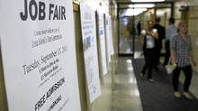 The U.S. economy grew at an anemic annual rate of 0.7 per cent in the year's first half. (Spencer Platt/Getty Images)