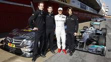 Christian Vietoris, Robert Wickens, Michael Schumacher and Roberto Merhi. (File photo) (Mercedes)