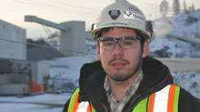 Glen Paul, 24, was connected to a job at the New Afton project near Kamloops through the B.C. Aboriginal Mine Training Association. (Murray Mitchell/THE CANADIAN PRESS)