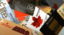 Aeroplan cards over the years.