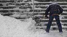 The first major snowstorm of 2009 hit much of eastern Canada, dumping deep snow, forcing schools to close and creating terrible driving conditions. (Fred Lum)